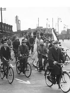 Cyclists - Ford End Road 1960s